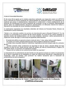 NOTA COMITÉ MIXTO DISTRITAL-8 de-agosto-de-2016